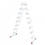 Лестница INTERTOOL LT-0029 изготовлена из высокопрочного экструдированного алюминиевого профиля. Это обеспечивает высокую жесткость конструкции, а также способность выдержать нагрузку до 150 кг. Во избежание скольжения, лестницы укомплектованы надежными эластичными пластиковыми ножками. Лестницы имеют прочные рифленые ступени, которые не дадут ноге соскользнуть. В основе функциональности лестницы лежит шарнирный механизм, с помощью которого вы с легкостью сможете установить лестницу в нужном вам положении....