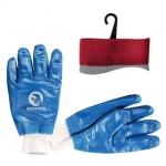 Перчатки INTERTOOL SP-0137 на трикотажной основе. Полностью покрыты высококачественным нитрилом синего цвета, что обеспечивает эластичность и стойкость перчаток к воздействию масел и нефтепродуктов, сырой нефти. Предназначены для высоких истирающих нагрузок, тяжелых работ. Вязанный эластичный манжет обеспечивает надежную фиксацию перчаток на запястье.  Читайте также:стойкость перчаток INTERTOOL к механическим и химическим воздействиям