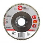 Диск шлифовальный лепестковый торцевой ТМ INTERTOOL подходит для применения с УШМ. Используется в работах по шлифованию и полировке изделий из металла, стали, бетона, сухого дерева, лака/краски. В зависимости от обрабатываемой поверхности и предполагаемого слоя снятия подбирается абразивность зерна диска.Диски с зернистостьюот 60 до 80 применяются для чистового шлифования поверхности. Обеспечивает низкий уровень шума. Абразивное зерно: оксид алюминия.