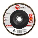 Диск шлифовальный лепестковый торцевой ТМ INTERTOOL подходит для применения с УШМ. Используется в работах по шлифованию и полировке изделий из металла, стали, бетона, сухого дерева, лака/краски. В зависимости от обрабатываемой поверхности и предполагаемого слоя снятия подбирается абразивность зерна диска. Диски с зернистостью от 36 до 40 применяются для предварительного шлифования поверхности. Обеспечивает низкий уровень шума. Абразивное зерно: оксид алюминия.