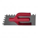 Затирка из оцинкованной стали KT-0006 INTERTOOL с квадратным зубом 8*8 мм. Габаритные размеры – 280*130 мм. Эргономичная пластиковая ручка надежно закреплена у основания полотна. Предназначена для равномерного нанесения и распределения различных строительных смесей по поверхности. Позволяет обрабатывать большие по площади поверхности.