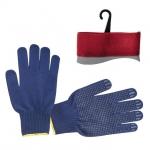 Перчатки х/б INTERTOOL SP-0132 трикотажные синего цвета. На ладони нанесено голубое ПВХ-покрытие, обеспечивающее защиту рук и надёжный захват предметов. С эластичными манжетами, которые мягко прилегают к кисти и предотвращают попадание бытового и строительного мусора внутрь перчаток. Благодаря х/б основе обеспечивается свободный воздухообмен. Предназначены для выполнения строительных и сельскохозяйственных работ, ручных механосборочных работ.