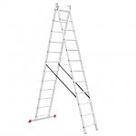 Лестница алюминиевая LT-0212 TM INTERTOOL изготовлена из высококачественного экструдированного алюминиевого профиля, поэтому она достаточно легкая 11,75 кг и максимально надежная - выдерживает нагрузки до 150 кг. Каждая из двух секций оснащена 12 ступенями шириной 280 мм. Высота лестницы в разложенном виде 5930 мм, в сложенном 3406 мм. Оснащена противоскользящими двухкомпонентными опорными заглушками, что обеспечивает надежное сцепление сопорной поверхностью ипрепятствует нежелательному скольжению...