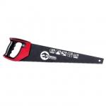 Ножовка по дереву INTERTOOL HT-3109 изготовлена из высококачественной стали твердостью 55 HRC. Полотно длиной 500 мм покрыто тефлоном, что позволяет заметно уменьшить трение при работе и повысить скорость пиления. Оно также защищает полотно от коррозии. Каленые зубья (7 зубьев x 1 дюйм) особой формы с тройной заточкой обеспечивают быстрый рез в обе стороны – как вперед, так и на себя. Ножовка оснащена удобной рукояткой из высокопрочного пластика с накладками из термопластичной резины. Форма рукоятки...