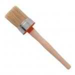 Кисть круглая КТ-1660 INTERTOOL – незаменимый малярный инструмент. Используется для работы с густыми красками и эмалями как внутри, так и снаружи помещения для покраски поверхностей со сложным рельефом. Качественно закрепленный к основанию, изготовленный из натуральной щетины ворс кисти диаметром 60 мм предупреждает