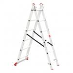 Лестница алюминиевая LT-0206 TM INTERTOOL изготовлена из высококачественного экструдированного алюминиевого профиля, поэтому она достаточно легкая – 5,9 кг и максимально надежная – выдерживает нагрузки до 150 кг. Каждая из двух секций оснащена 6 ступенями шириной 280 мм. Высота лестницы в разложенном виде – 2570 мм, в сложенном – 1726 мм. Оснащена противоскользящими двухкомпонентными опорными заглушками, что обеспечивает надежное сцепление сопорной поверхностью ипрепятствует нежелательному скольжению...