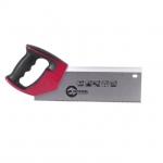 Ножовка пасовочная INTERTOOL HT-3113 предназначена для точного распиливания заготовок малой и средней толщины из древесины, ДСП и фанеры. В основном, данная модель исходя из особенностей дизайна и рукоятки, прикрепленной под углом, используется со стуслом. Полотно ножовки изготовлено из высококачественной стали твердостью 55 HRC. Длина рабочей поверхности — 300 мм. Шаг каленых зубьев особой формы с тройной заточкой — 12 ед х 1 дюйм, что обеспечивает быстрый рез. Ножовка оснащена удобной рукояткой из...