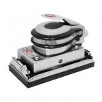 Шлифовальная машина вибрационная INTERTOOL РТ-1004 применяется для шлифовки деревянных, металлических, окрашенных и шпатлеванных поверхностей. Габариты платформы – 172*92 мм, вибрация – 8000 колебаний/мин. Рабочее давление достигает шести атмосфер, а расход воздуха 230 л/мин. Преимущества - Удобная клавиша запуска на корпусе инструмента, - Фиксация шлифовальной бумаги зажимами, - Встроенный регулятор скорости, - Ладонь удобно ложится, что даёт возможность работы одной рукой, - Предусмотрен дроссель заслонки для остановки инструмента.