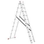 Универсальная алюминиевая 3-х секционная раскладная лестница LT-0310 ТМ INTERTOOL незаменима как в строительстве так и в быту. Лестница LT-0310 изготовлена из высококачественного экструдированного алюминиевого профиля, соответствует европейскому стандарту EN131. При весе 15,4 кг выдерживает нагрузку до 150 кг. Каждая из 3-х секций оснащена 10 рифлеными ступенями шириной 280 мм. Высота в разложенном виде 6766 мм, в сложенном 2846 мм. Противоскользящие опорные заглушки обеспечивают надежное сцепление с...