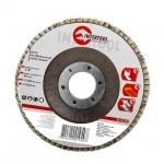 Диск шлифовальный лепестковый торцевой ТМ INTERTOOL подходит для применения с УШМ. Используется в работах по шлифованию и полировке изделий из металла, стали, бетона, сухого дерева, лака/краски. В зависимости от обрабатываемой поверхности и предполагаемого слоя снятия подбирается абразивность зерна диска.Диски с зернистостью от 36 до 40 применяются для предварительного шлифования поверхности Обеспечивает низкий уровень шума. Абразивное зерно: оксид алюминия.