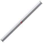 Правило ТМ INTERTOOL MT-2215 имеет трапециевидную форму, длиной 150 см. Изготовлено из алюминиевого профиля высотой 100 мм и толщиной профиля 1 мм, что значительно увеличивает срок службы. Позволяет работать на малых площадях для выполнения работ по выравниваю стен или стяжки полов. С обоих сторон основания, правило оснащено пластиковыми