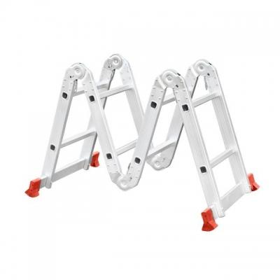 Лестница INTERTOOL LT-0028 изготовлена из высокопрочного экструдированного алюминиевого профиля. Это обеспечивает высокую жесткость конструкции, а также способность выдержать нагрузку до 150 кг. Во избежание скольжения, лестницы укомплектованы надежными эластичными пластиковыми подошвами. Лестницы имеют прочные рифленые ступени, которые не дадут ноге соскользнуть. В основе функциональности лестницы лежит шарнирный механизм, с помощью которого вы с легкостью сможете установить лестницу в нужном вам...