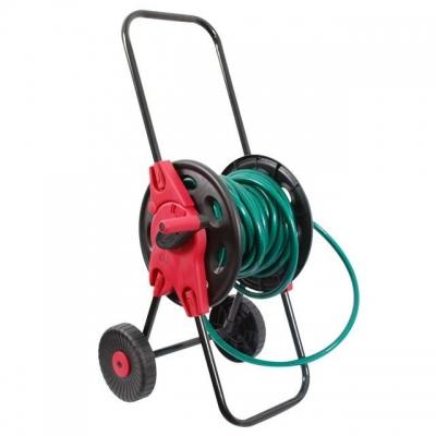 Катушка для шланга на колесах INTERTOOL GE-3003 позволяет удобно транспортировать, пользоваться и хранить поливочный шланг диаметром 1/2