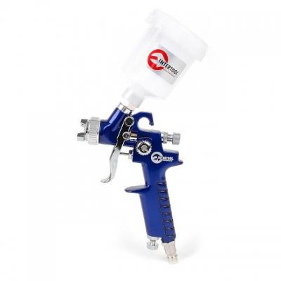 Пистолет покрасочный РТ-0101 используется для окрашивания небольших поверхностей, тонировки, аэрографии, художественного лакирования. Краскораспылитель создан по технологии HVLP (Низкое давление с большим расходом воздуха), благодаря чему достигается75% эффективность переноса ЛКМ на окрашиваемую поверхность и экономно расходуются дорогие материалы. Данный краскопульт может использоваться с большинством видов ЛКМ. Расположение пластикового бачка ёмкостью 125 мл — верхнее. При рабочем давлении до 3 атмосфер...