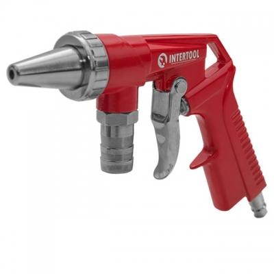 Пистолет пескоструйный РТ-0706 используется для зачистки деревянных, металлических или каменных поверхностей от застарелой краски, следов коррозии, штукатурки и различной грязи. Обширно используется на СТО, в автомобильных мастерских, на строительных площадках. Если вы решите купить пескоструйный пистолет РТ-0706, то в комплекте с пистолетом получите шланг для абразива и две форсунки – металлическую и керамическую. Диаметр обоих форсунок – 6 мм. Длина шланга – 1000мм. Рабочее давление до 8 атмосфер....