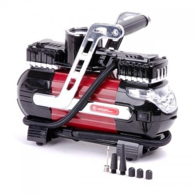 Компактныйавтомобильный компрессор INTERTOOL AC-0003 станетвашимнадежными помощникомв гараже, в дороге или впутешествии.Рабочее давление до 7 атмосферпозволит накачать до рабочего состояния колеса автомобиля, мотоцикла иливелосипеда, а также мячи, матрацы, кругии любые другие надувные изделия благодаря набору насадок, который поставляется в комплекте. Особенно удобным в использовании этот компрессор становится благодаря ряду его особенностей: Точный контрастный манометр для контроля текущего...