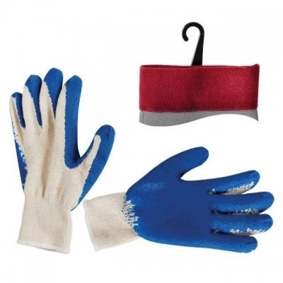 Перчатки х/б INTERTOOL SP-0008 с трикотажной основой, усиленной синим латексом на ладони для дополнительной защиты рук от загрязнения, истирания или повреждения, а также лучшего сцепления с предметами во время работы. Х/б основа пропускает воздух и обеспечивает комфорт в работе. Предназначены для проведения бытовых, ремонтных, садовых, погрузочно-разгрузочных работ.  Читайте также: стойкость перчаток INTERTOOL к механическим и химическим воздействиям