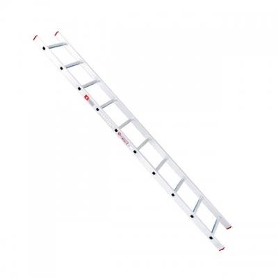 Лестница приставнаяINTERTOOL LT-0110 изготовлена из высококачественного экструдированного алюминиевого профиля и соответствует европейскому стандарту EN131. Вес – 4,2 кг, высота – 2840 мм. Оснащена 10 нескользящими рифлеными ступенями шириной 280 мм. Сменные пластиковые вставки в основании стоек предотвращают скольжение по опорной поверхности. Незаменимая вещь на даче, а так же при проведении строительных, монтажных работ. Особенности Цельнотянутый экструдированный профиль; Нескользящие рифленые ступени; Нескользящие башмаки; Легкий вес;