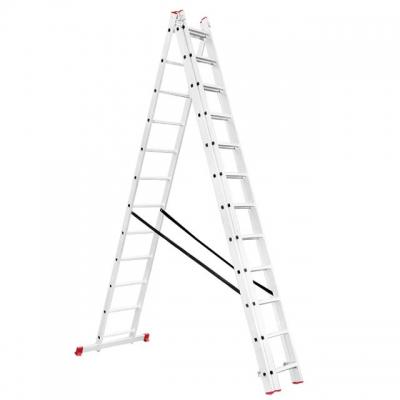 Универсальная алюминиевая 3-х секционная раскладная лестница LT-0312 ТМ INTERTOOL незаменима как в строительстве так и в быту. Лестница LT-0312 изготовлена из высококачественного экструдированного алюминиевого профиля, соответствует европейскому стандарту EN131. При весе 18,7 кг выдерживает нагрузку до 150 кг. Каждая из 3-х секций оснащена 12 рифлеными ступенями шириной 280 мм. Высота в разложенном виде 7887 мм, в сложенном 3419 мм. Противоскользящие опорные заглушки обеспечивают надежное сцепление с...