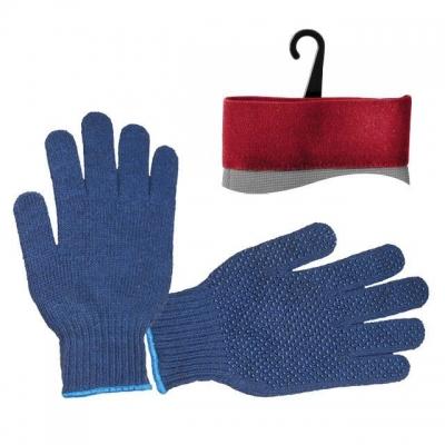Перчатки INTERTOOL SP-0104 трикотажные синтетические синего цвета. На ладони нанесено точечное ПВХ-покрытие, обеспечивающее защиту рук и надёжный захват предметов. С эластичными манжетами, которые мягко прилегают к кисти и предотвращают попадание бытового и строительного мусора внутрь перчаток. Предназначены для выполнения строительных и сельскохозяйственных работ, ручных механосборочных работ.