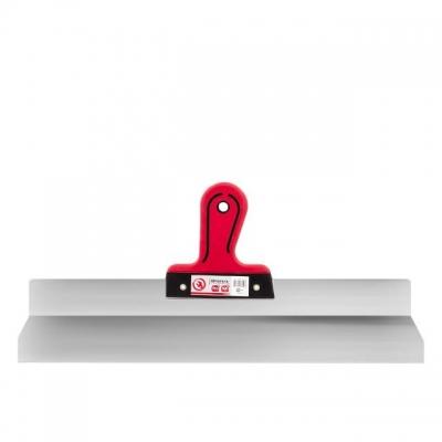 Шпатель профессиональной серии INTERTOOL KT-2650 предназначен для фасадных и внутренних отделочно-ремонтных работ. Полотно шпателя выполнено из качественной нержавеющей стали, которая гарантирует надежность и долговечность инструмента, а также легко чистится и моется. Шпатель обладает усиленной двухкомпонентной ручкой из резины и пластика. Она имеет эргономичную форму, комфортно лежит в руке и обеспечивает надежный захват. Профессиональный шпатель INTERTOOL KТ-2650 оснащен алюминиевым профилем, который придает дополнительную прочность конструкции и обеспечивает ровность полотна во время проведения работ.