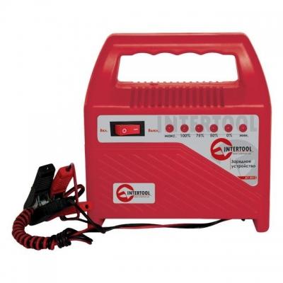 Зарядным устройством AT-3012 INTERTOOL можно заряжать аккумуляторные батареи 6В и 12В. Данная модель зарядного устройства идеально подходит для зарядки мотоциклов, легковых автомобилей и других механических средств, имеющих аккумуляторную батарею c таким типом батарей. Устройство AT-3012 оснащено системой защиты от короткого замыкания, защитой от перезарядки и функцией непрерывной подзарядки. Зарядное устройство включается в сеть с напряжением 230В и потребляет мощность всего лишь 70Вт в час. С клеммами...