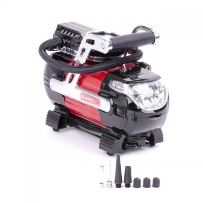 Компактныйавтомобильный компрессор INTERTOOL AC-0002 станетвашимнадежными помощникомв гараже, в дороге или впутешествии.Рабочее давление до 7 атмосферпозволит накачать до рабочего состояния колеса автомобиля, мотоцикла иливелосипеда, а также мячи, матрацы, кругии любые другие надувные изделия благодаря набору насадок, который поставляется в комплекте. Особенно удобным в использовании этот компрессор становится благодаря ряду его особенностей: Точный контрастный манометр для контроля текущего...