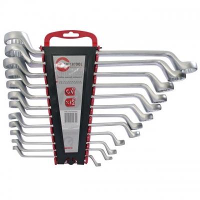 INTERTOOL HT-1103 — набор из 12 накидных гаечных ключей. Размерная линейка набора — от 6 до 32 мм. Надежность и долговечность обеспечивает материал изготовления ключей — хром-ванадиевая сталь. Благодаря кольцевому строению рабочей части нагрузка в момент усилия распределяется равномерно. Это снижает риск «слизать» грань угла. Ключи изготовлены из хром-ванадиевой стали. Её физические и химические свойства обуславливают высокую устойчивость к механическим нагрузкам, коррозионную стойкость и твердость. Кроме...