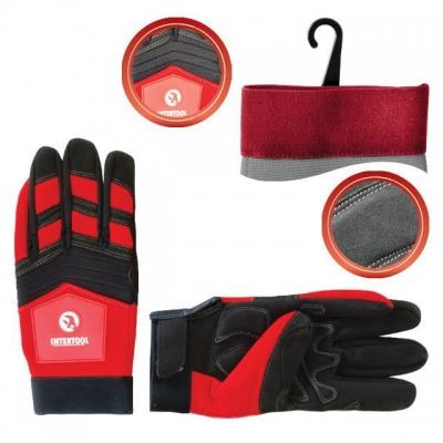 Перчатки INTERTOOL SP-0143 из Microfiber красного цвета, декорированы черными вставками спандекса. Предназначены для защиты рук при бытовых работах, проведении мелкого ремонта, незначительных строительных работ. Мягкость материала не сковывает движений пальцев. Утолщенное неопреновое покрытие на ладони защищает руки от мелких механических повреждений и загрязнений. Оснащенная липучкой манжета обеспечивает надежную фиксацию на запястье. О перчатках из неопрена