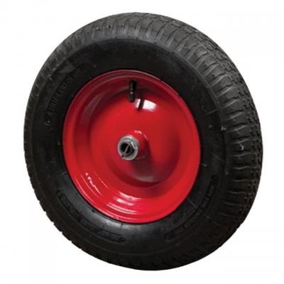 Колесо пневматическое WB-0015. Пневматическое колесо WB-0015 с камерой подходит для таких садово-строительных тачек, как: WB-0813, WB-0815, WB-0823, WB-0825, WB-1015, WB-1025. Колесо оснащено подшипником, для облегчения проворачиваемости колеса и увеличении ресурса внутренней втулки. Размер пневматического колеса: 15