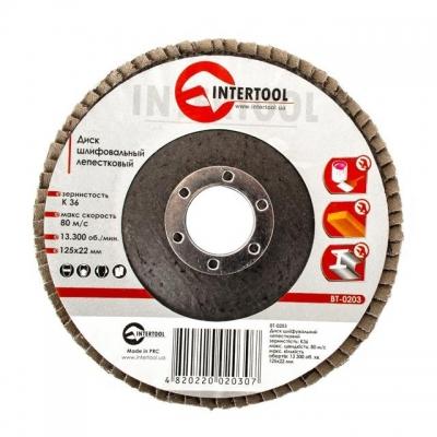 Диск шлифовальный лепестковый торцевой ТМ INTERTOOL подходит для применения с УШМ. Используется в работах по шлифованию и полировке изделий из металла, стали, бетона, сухого дерева, лака/краски. В зависимости от обрабатываемой поверхности и предполагаемого слоя снятия подбирается абразивность зерна диска. Диски с зернистостью от 36 до 40 применяются для предварительного шлифования поверхности. Обеспечивает низкий уровень шума. Абразивное зерно: оксид алюминия.s