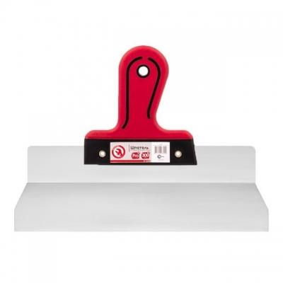 Шпатель профессиональной серии INTERTOOL KT-2630 предназначен для фасадных и внутренних отделочно-ремонтных работ. Полотно шпателя выполнено из качественной нержавеющей стали, которая гарантирует надежность и долговечность инструмента, а также легко чистится и моется. Шпатель обладает усиленной двухкомпонентной ручкой из резины и пластика. Она имеет эргономичную форму, комфортно лежит в руке и обеспечивает надежный захват. Профессиональный шпатель INTERTOOL KТ-2630 оснащен алюминиевым профилем, который придает дополнительную прочность конструкции и обеспечивает ровность полотна во время проведения работ.
