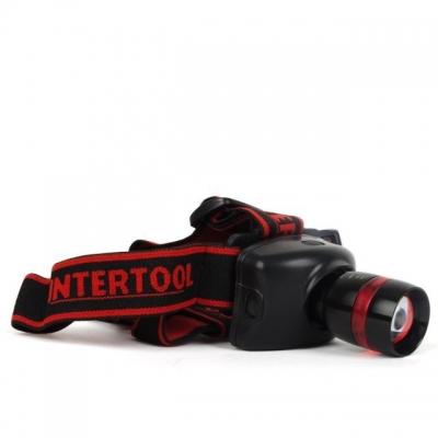 Налобный фонарь INTERTOOL LB-0303 станет незаменимым помощником в бытовых работах, туристических походах или на рыбалке и обеспечит качественное освещение рабочей поверхности, дороги под ногами или в любой другой ситуации. Особенности налобного фонаря INTERTOOL LB-0303 Яркий CREE светодиод мощностью 3Вт; 3 режима работы (ultra, eco, strobe); Фокусирующая линза позволяет отрегулировать световое пятно; Фиксируемый угол наклона фонаря; Антикоррозийная защита; Пылевлагозащита корпуса; Мягкие и прочные фиксирующие ремни.