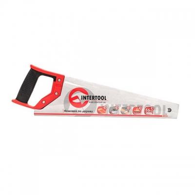 Ножовка по дереву INTERTOOL HT-3101 изготовлена из прочной, закаленной стали. Длина рабочей поверхности — 400 мм, этого вполне достаточно для распила веток или заготовок диаметром более 100 мм. Количество зубьев на 1 дюйм рабочей длины полотна — 7. Ножовка оснащена удобной рукояткой из высокопрочного пластика с накладками из термопластичной резины. Особенности Каленые зубья, не требуют заточки; Удобная двухкомпонентная рукоятка;