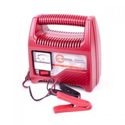 Компактное зарядное устройство AT-3014 INTERTOOL предназначено для зарядки аккумуляторных батарей 6 В и 12 В, емкостью до 60 Ач. Данная модель зарядного устройства подходит для зарядки аккумуляторных батарей мотоциклов, автомобилей и других механических транспортных средств. Питается зарядное устройство от бытовой сети с напряжением 230 В. Особенности Подходит для аккумуляторов практически любых типов транспортных средств: мотоциклов, автомобилей; Два режима зарядки — на 6 В или 12 В; Очень скромные...