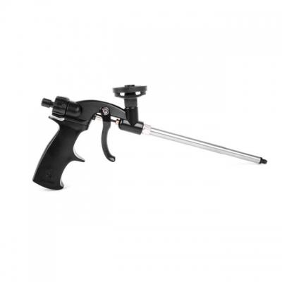 На пистолете PT-0605, тефлоновым покрытием защищены все самые важные узлы: держатель баллона, игла, внутренняя поверхность трубки и сопло. Это те места, где, вероятнее всего, пена может прилипать при застывании. У моделиPT-0605 полностью разборный металлический корпус, удобная легкая и прочная пластиковая рукоятка с регулятором подачи пены. Рукоятка регулировки изготовлена из прочного пластика и имеет форму, которая позволяет без труда производить регулировку подачи пены даже процессе работы. В комплекте...