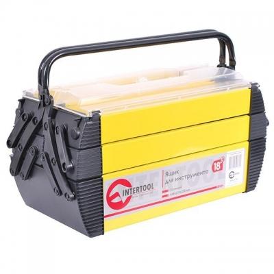 Раздвижной ящик для инструментов BX-5018 имеет полностью металлический корпус с металлическими ручками для транспортировки. Особенность ящика заключается в том, что верхние секции разъезжаются относительно друг друга. Нижняя часть ящика имеет больший объем, поэтому там можно разместить как электроинструмент, так и ручной инструмент. Верхние секции закрываются прозрачной пластиковой крышкой. Ящик с пятью секциями больше ориентирован для хранения инструментов, предназначенных для разного рода работ любой...
