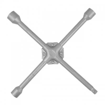 Баллонный крестовой ключ HT-1604 – удобный универсальный ключ для монтажа автомобильных колес. Наличие клепаной пластины на крестовине обеспечивает дополнительную прочность и долговечность конструкции ключа. Размеры головок: 17 мм; 19 мм; 21 мм. У одного основания имеется квадрат на 1/2
