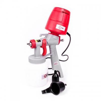 HVLP 450 Вт, форсунка 1,5 мм, бачок 1 л; 0,14-0,35 Бар, 100-200 мл/мин