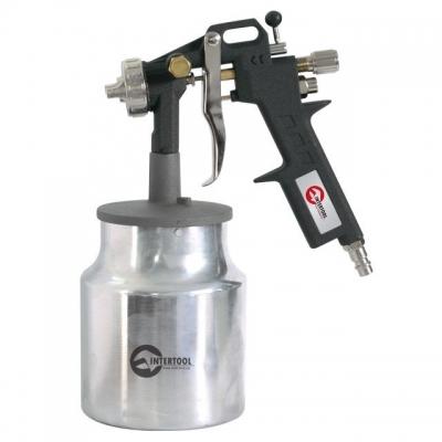 Краскопульт пневматический INTERTOOL PT-0211 отличный помощник при проведении разнообразных покрасочных работ. Он компактен и имеет эргономичный дизайн – это обеспечивает комфорт при работе с инструментом. Бачок ёмкостью1000 мл у РТ-0211 имеет нижнее расположение и изготовлен из металла. Диаметр форсунки на данной модели составляет 1,5 мм, а расход воздуха – 130-190 мл. Рабочее давление достигает 5 атм. Покрасочный пистолет INTERTOOL PT-0211 оптимально подходит для выполнения покрасочных работ, где...