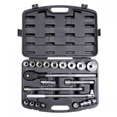 Профессиональный набор инструментов INTERTOOL ET-6023 включает 20 единиц, предназначенных для ремонта грузовиков и другой тяжелой техники. Инструменты, входящие в состав данного набора, отличаются большими размерами и исключительно высоким качеством. Так, торцевые головки, представленные в количестве 9 штук, имеют диаметр от 19 до 50 мм и изготовлены из хром-ванадиевой стали, обладающей высокой прочностью и стойкостью к коррозии. Кроме того, в профессиональный набор инструмента INTERTOOL ET-6023 входят...
