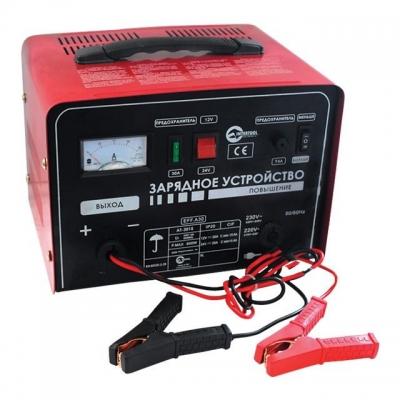 Зарядное устройство AT-3015 INTERTOOL предназначено для зарядки аккумуляторных батарей 12 В и 24 В емкостью до 250 Ач. Этим зарядным устройством можно заряжать аккумуляторные батареи как легковых автомобилей, так и грузовых. На грузовых транспортных средствах чаще используются аккумуляторные батареи на 24В. Панель управления устройства максимально информативна и понятна. На ней размещены два тумблера, стрелочный индикатор тока зарядки и два предохранителя. Особенности: - Высокое качество сборки ЭРЭ, -...