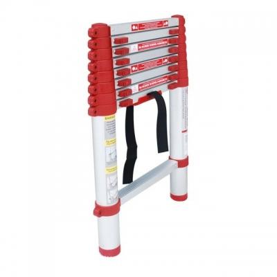 Лестница алюминиевая телескопическая LT-3026 TM INTERTOOL оснащена 8 нескользящими рифлеными ступенями шириной 300 мм, а также надежно закрепленными замками-фиксаторами. Противоскользящие опорные заглушки препятствуют нежелательному скольжению лестницы. Высота лестницы в разложенном виде 2600 мм, выдерживает нагрузку до 150 кг. В сложенном виде высота составляет 675 мм. Есть ручка для переноски. Алюминиевая лестница компактна, удобна при транспортировке и хранении. Соответствует европейскому стандарту...