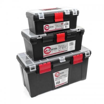Комплект ящиков для инструментов ТМ INTERTOOL BX-0003 состоит из 3 ящиков: Малого размера – ВХ-0125 13