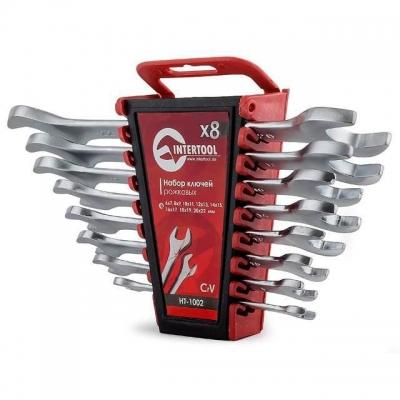 INTERTOOL HT-1002 — это набор из восьми качественно выполненных рожковых ключей. Размерная линейка — от 6 до 22 мм. Рожковые ключи являются одними из наиболее популярных, поэтому пригодятся как на автосервисе, так и дома, в гараже или на даче. Ключи поставляются в удобном пластиковом держателе с отверстием для подвешивания. Надежность и долговечность изделий обеспечивает материал изготовления— хром-ванадиумная сталь. Её физические и химические свойства обусловливают высокую устойчивость к механическим...