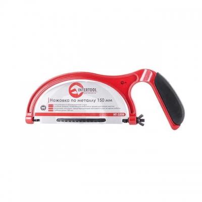 Ножовка по металлу ТМ INTERTOOL HT-3308 длинной 150мм, изготовлена из высокопрочного материала с резиновой накладкой на ручке, предотвращающей скольжение руки во время работы. Фиксация полотна производится с помощью специального гаечного механизма. Глубина резки 100 мм. Простая конструкция ножовки позволяет работать с ней, не имея специальных навыков.