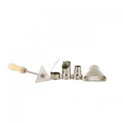Набор насадок для фена технического INTERTOOL DT-2490 служат для расширения функциональных возможностей инструмента и упрощения работы с ним. В комплект включены насадки с рефлекторным, стеклозащитным, сужающим, направляющим соплами и удобный скребок. Комплект поставки: Насадка с рефлекторным соплом, пуская горячий воздух по лепестку, способна нагревать участок длинного предмета сразу с нескольких сторон. Это очень удобно при термоусадке изоляции на кабеле, прогреве труб с небольшим диаметром. Насадка со...