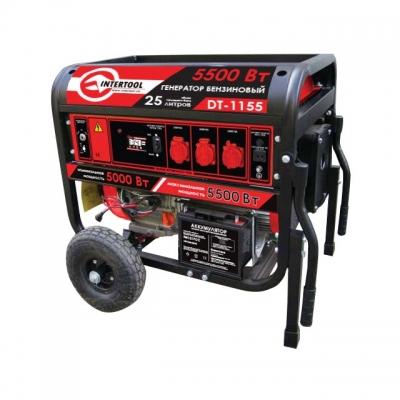 макс. мощн. 6 кВт., ном. 5,5 кВт., 13 л.с., 4-х тактный, электрический и ручной пуск, комплект колес и ручек, 96 кг.