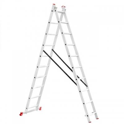 Лестница алюминиевая LT-0210 TM INTERTOOL изготовлена из высококачественного экструдированного алюминиевого профиля, поэтому она достаточно легкая 9,8 кг и максимально надежная - выдерживает нагрузки до 150 кг. Каждая из двух секций оснащена 10 ступенями шириной 280 мм. Высота лестницы в разложенном виде 4810 мм, в сложенном 2846 мм. Оснащена противоскользящими двухкомпонентными опорными заглушками, что обеспечивает надежное сцепление сопорной поверхностью ипрепятствует нежелательному скольжению...