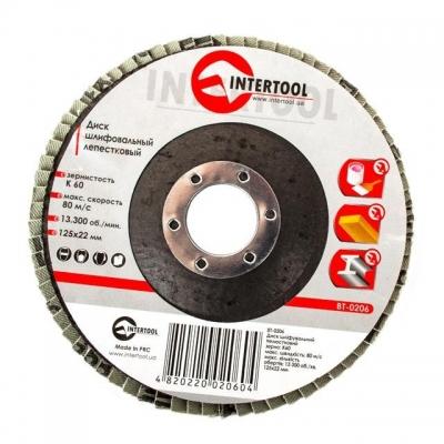 Диск шлифовальный лепестковый торцевой ТМ INTERTOOL подходит для применения с УШМ. Используется в работах по шлифованию и полировке изделий из металла, стали, бетона, сухого дерева, лака/краски. В зависимости от обрабатываемой поверхности и предполагаемого слоя снятия подбирается абразивность зерна диска. Диски с зернистостью от 60 до 80 применяются для чистового шлифования поверхности. Обеспечивает низкий уровень шума. Абразивное зерно: оксид алюминия.